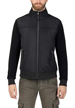 Timezone Men's Nylon Front Jacket Sweat,XX-Large