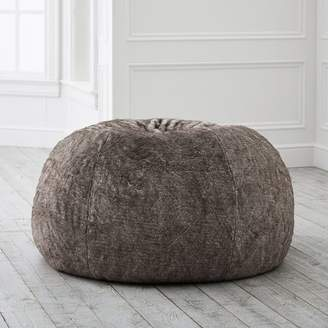 Pottery Barn Teen Tipped Faux-Fur Beanbag, Slipcover, Large