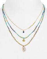 "Chan Luu Opal & Aqua Beaded Necklace, 16"""