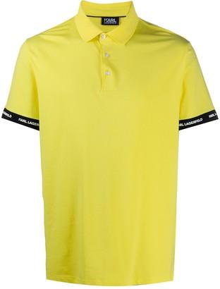 Karl Lagerfeld Paris Logo Embroidered Polo Shirt