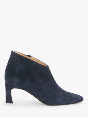 John Lewis & Partners Waverly Suede Shoe Boots, Navy