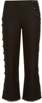 Proenza Schouler Button-down leg tweed trousers