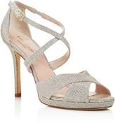 Kate Spade Frances Metallic Crisscross High Heel Sandals