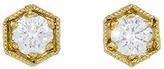 Cathy Waterman Hexagonal Diamond Studs - Gold
