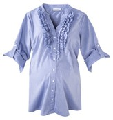 Liz Lange for Target Maternity 3/4 Sleeve Ruffled Shirt for Target®