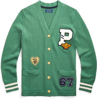 Ralph Lauren Athletic-Patch Cotton Cardigan