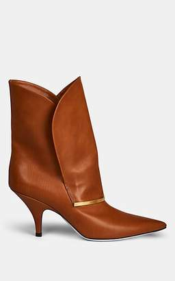 Givenchy Women's Bar-Embellished Leather Ankle Boots - Camel