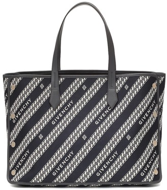Givenchy Logo Medium leather-trimmed tote