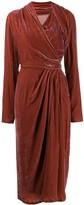 Rick Owens velvet wrap dress