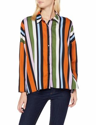 Compañía Fantástica COMPANIA FANTASTICA Women's Camisa Oversize Multicolor Shirt