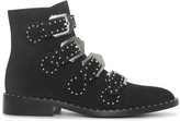 Givenchy Elegant flat black suede boot