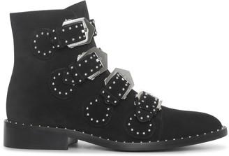 Givenchy Elegant flat black suede boot