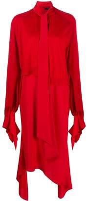 Rokh asymmetric midi dress