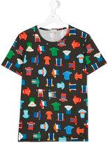 Paul Smith bicycle racing top print T-shirt - kids - Cotton - 14 yrs