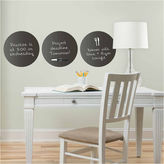 Brewster Wall WallPops Charcoal Dry Erase Dot Decals