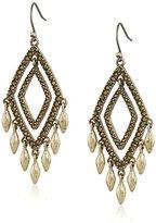 Lucky Brand Gold Multi-Diamond Pave Earrings