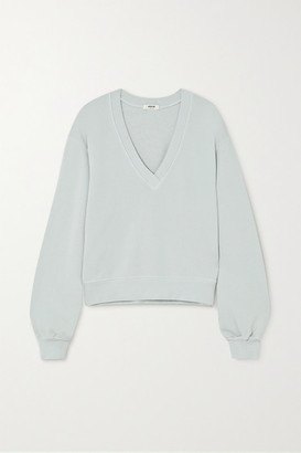 AGOLDE Cotton-jersey Sweatshirt - Blue