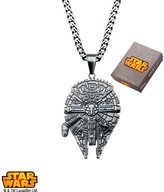 Disney Star Wars Stainless Steel Millennium Falcon Pendant comes with Chain