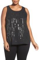 Sejour Plus Size Women's Sequin Shell