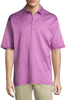 Bobby Jones Stripe-Print Short-Sleeve Polo Shirt