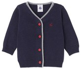 Petit Bateau Baby boys wool and cotton knit cardigan