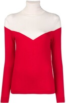 Cashmere In Love two-tone roll neck jumper