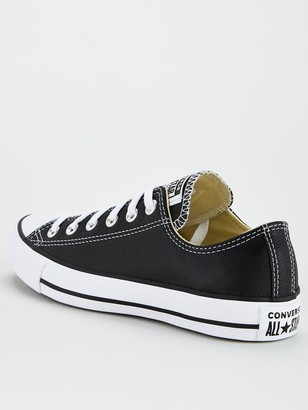 Converse Chuck Taylor All Star Leather Ox - Black white