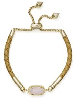 Kendra Scott Cruz Leather & Drusy Slider Bracelet