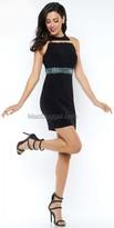 Mac Duggal Embellished Waist Homecoming Dress