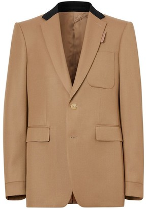 Burberry Classic Fit Two-tone Wool Tailored Jacket