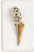 STUDY Tommy Mitchell Original GIlded Hyacinth on Linen