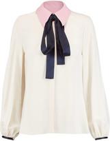 Roksanda Kellaway pussy-bow crepe shirt