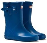 Hunter Blue Original Flat Sole Wellington Boots