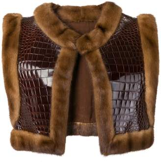 A.N.G.E.L.O. Vintage Cult fur-trimmed leather vest