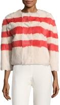 RED Valentino Women's Fur Striped Jacket