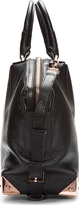 Alexander Wang Black Leather & Rosegold Emile Small Tote