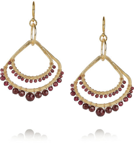 Chan Luu Gold-plated garnet earrings