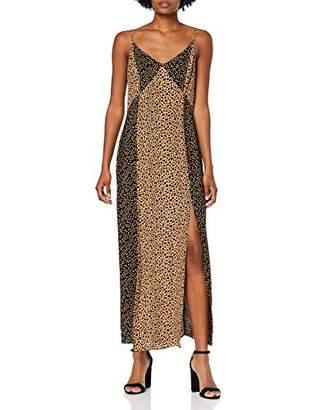 Warehouse Women's Mixed Animal Print Maxi Maxi Sleeveless Dress,12 US (Manufacturer Size: 42)
