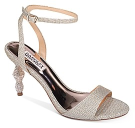 Badgley Mischka Women's Evamarie Crystal Embellished Kitten Heel Sandals