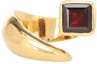 Alan Crocetti Alien gold-vermeil ring with garnet