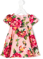 Dolce & Gabbana rose print brocade dress