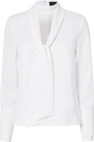 Exclusive for Intermix Rinnah Tie Detail Choker Neck Blouse