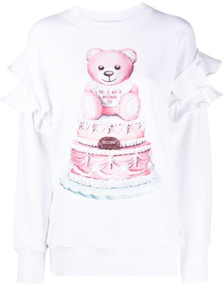 Moschino Teddy Bear-Print Ruffled Top