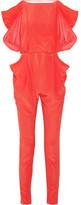 Vionnet Draped-back silk jumpsuit