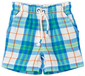 Hatley Baby Boy's Tropical Plaid Drawstring Shorts