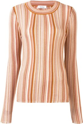 Rodebjer Vala striped long-sleeved top