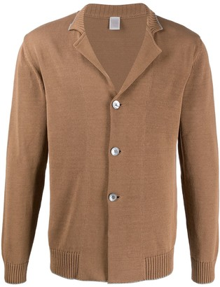 Eleventy Notched-Collar Knit Cardigan
