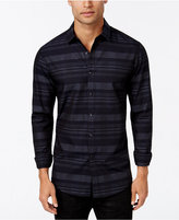 INC International Concepts Men's Steady Plaid Long-Sleeve Shirt, Only at Macy's