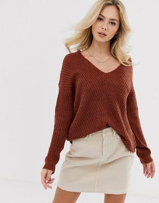 JDY v-neck rib knitted jumper