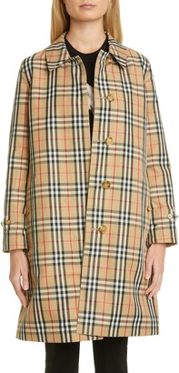 Burberry Draper Reversible Check Raincoat